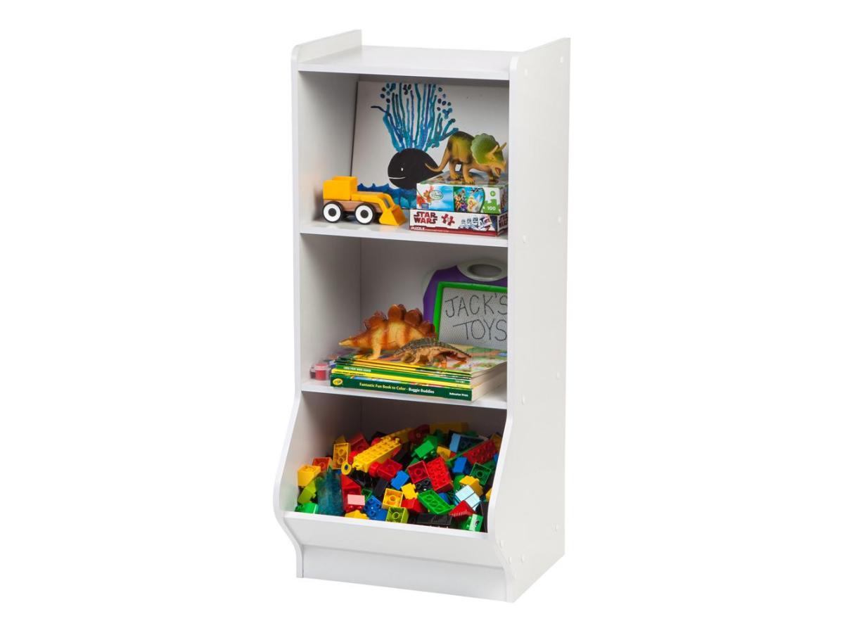 white 3 tier storage organizer shelf