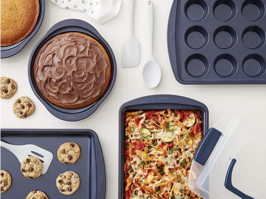 baking pans and cookie sheets