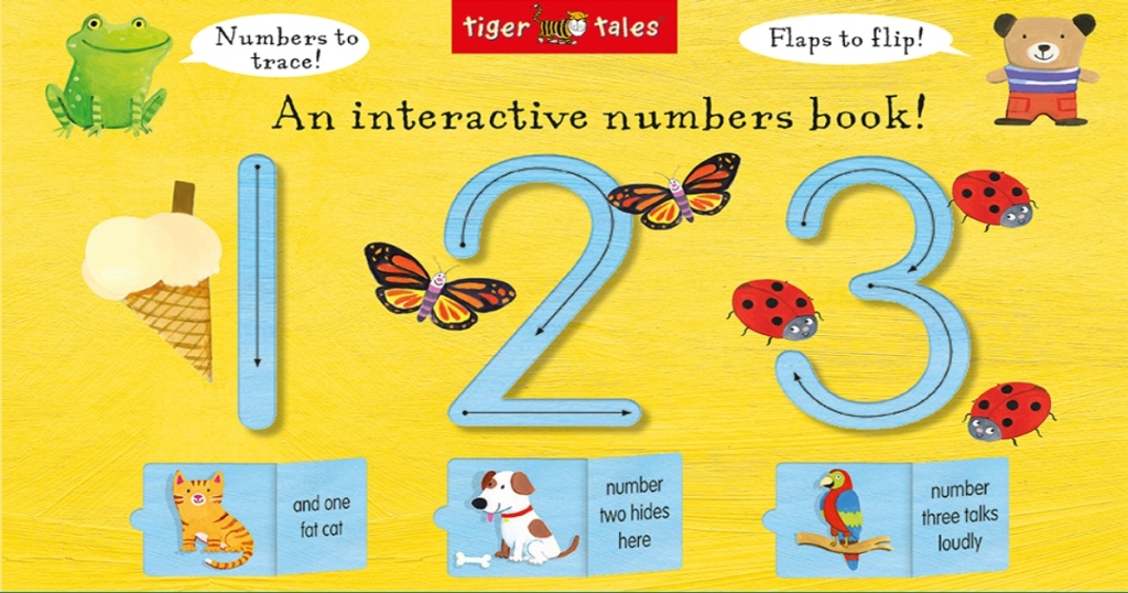 Count with me board book with the numbers 1 2 and 3, along with cute cartoon images