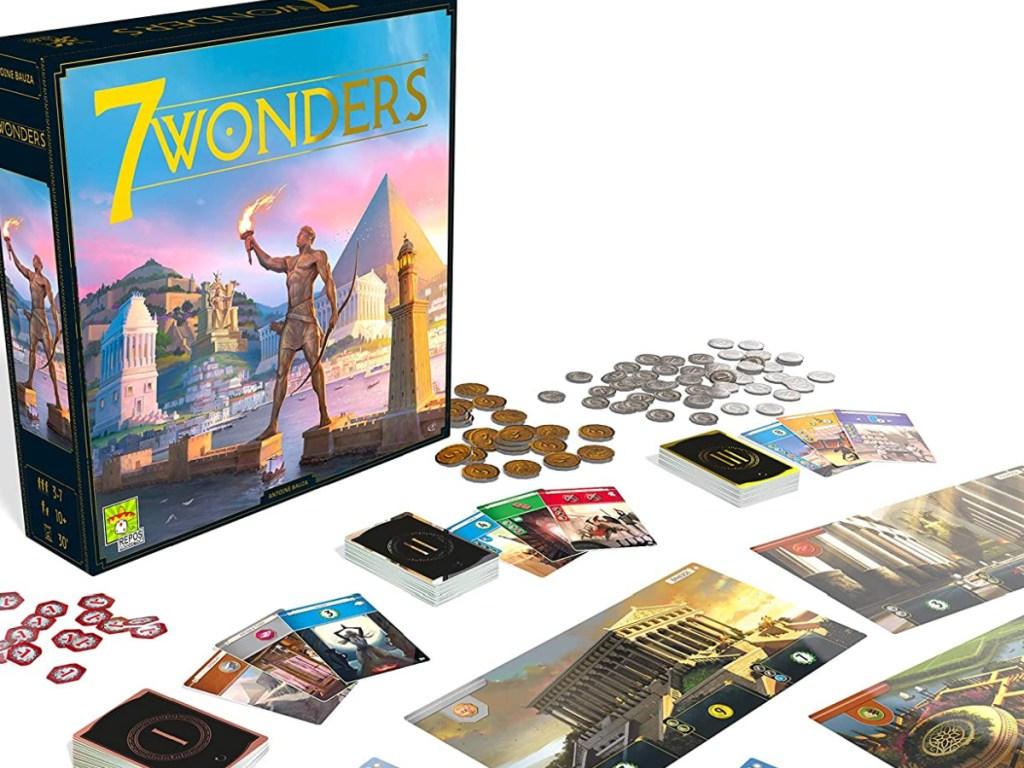 7 wonders board game displayed