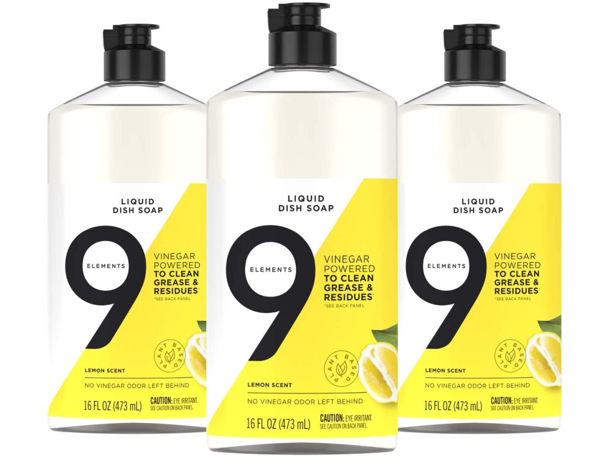 9 elements dish soap 3 pack