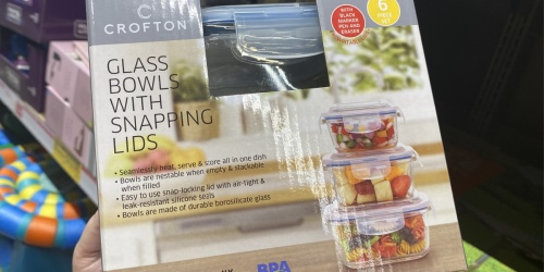 Glass 6-Piece Bowl Set w/ Snapping Lids Only $8.99 at ALDI + More Kitchen Finds