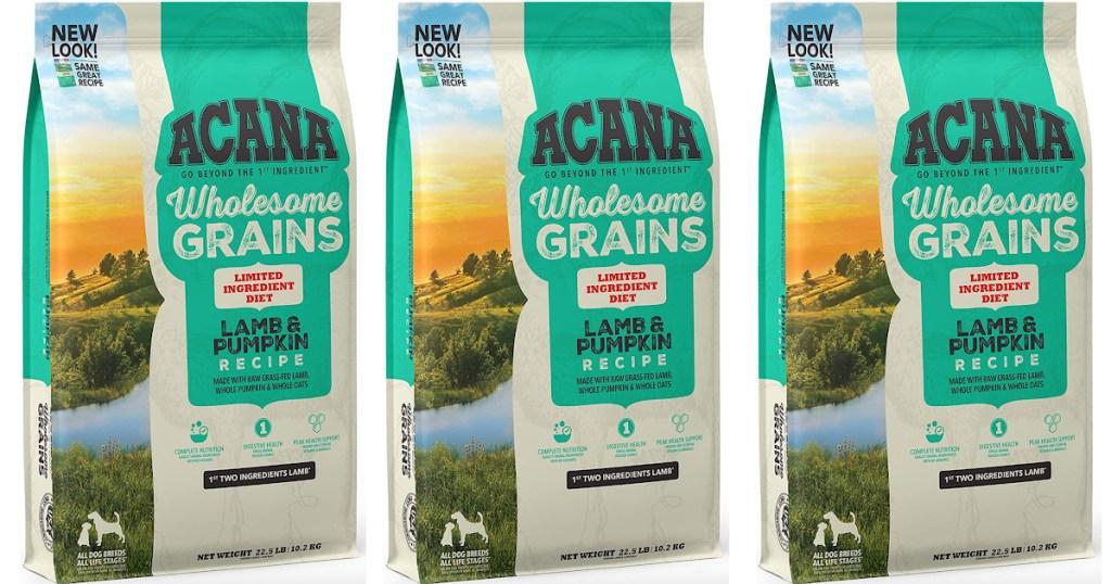 3 large bags of acana dog food
