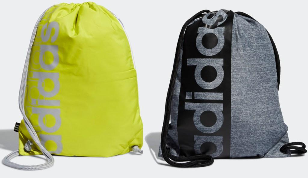two Adidas brand sackpacks