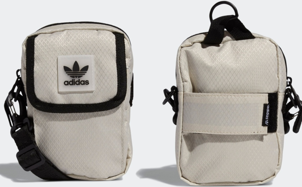 front and back view of a Adidas Utility Festival Crossbody Bag
