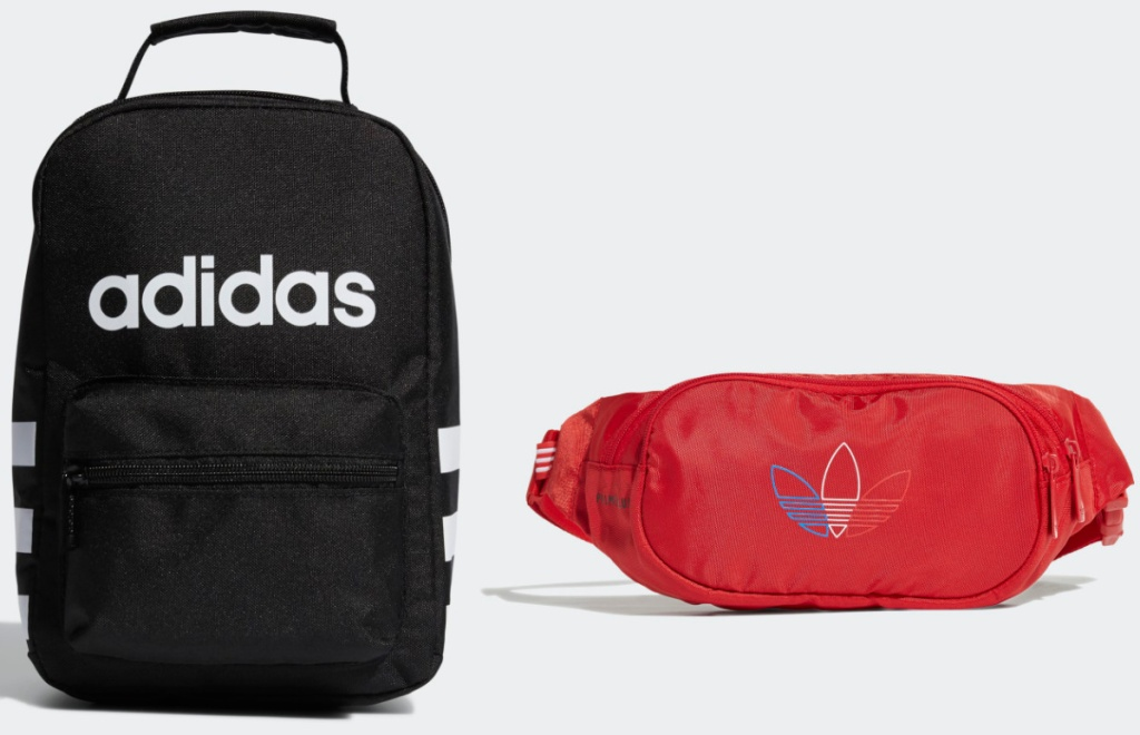 two Adidas bags