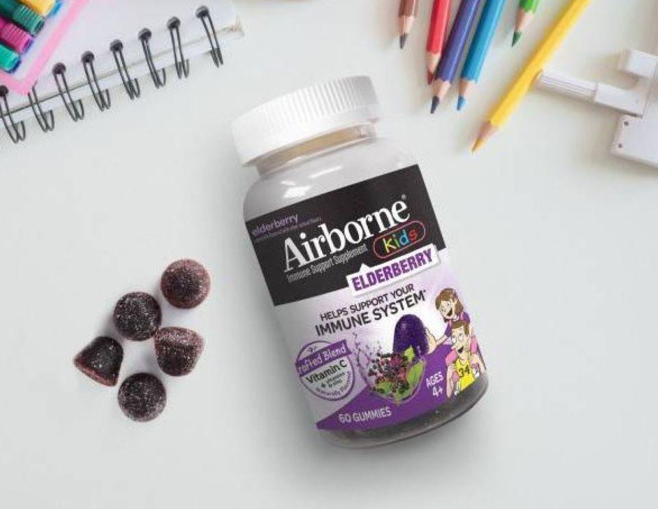 bottle of Airborne Elderberry Kids