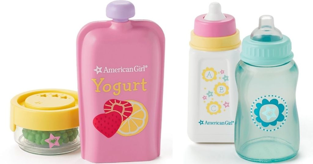 American Girl Baby food and bottles