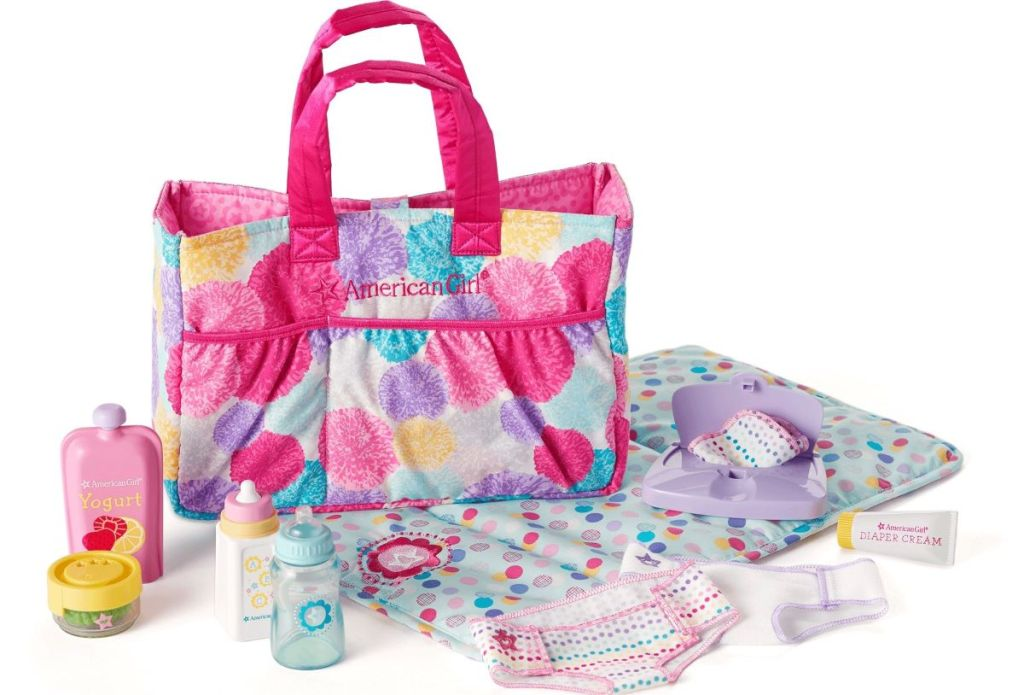 American Girl Diaper Bag and accessories