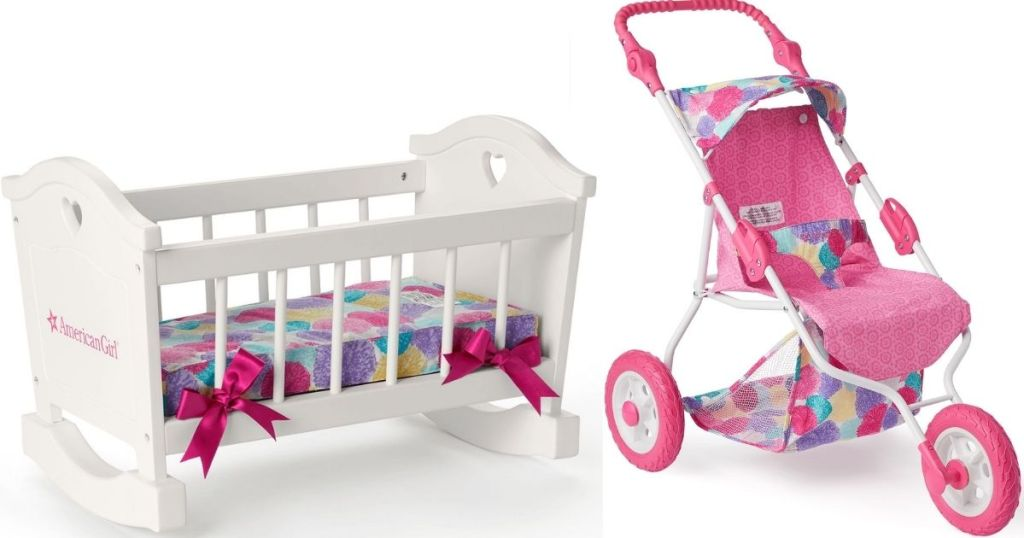 American Girl cradle and stroller