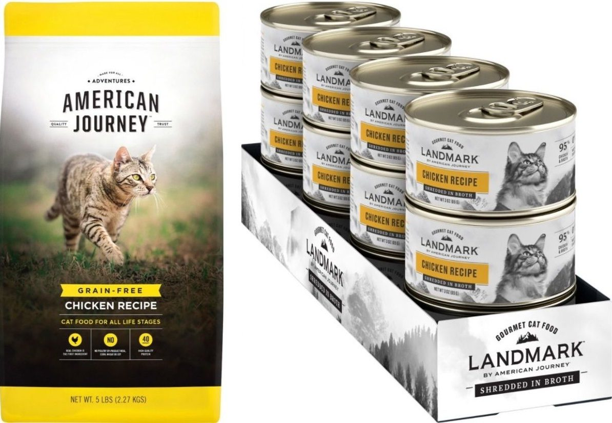 American Journey Dry Cat Food and Wet Cat Food