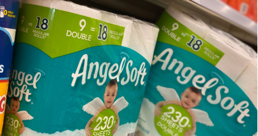 toilet paper on shelf