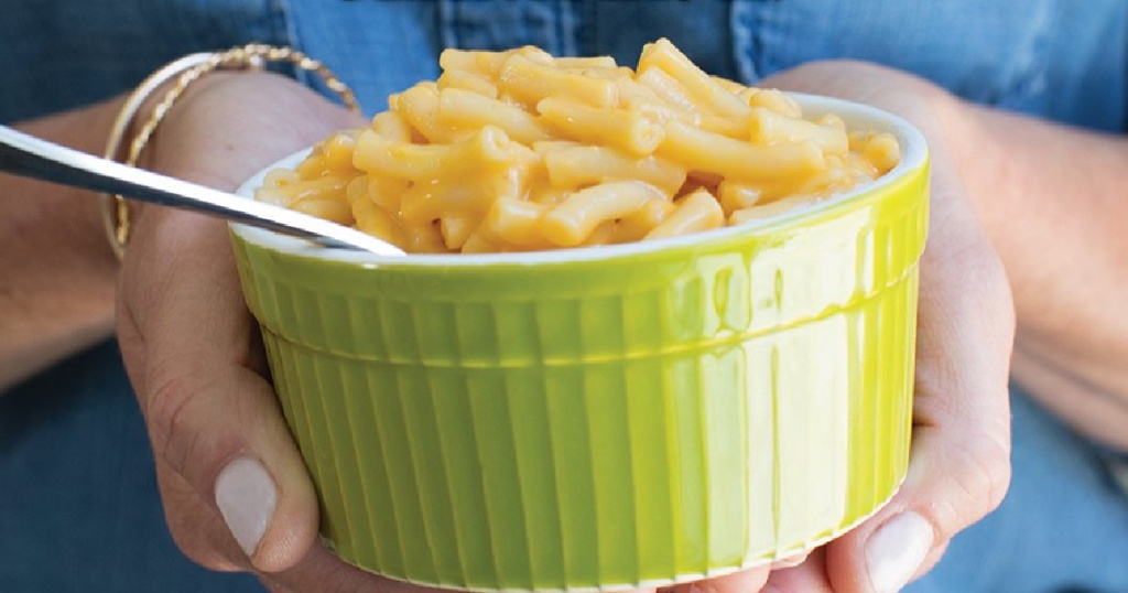 Annie's Mac & Cheese in green bowl