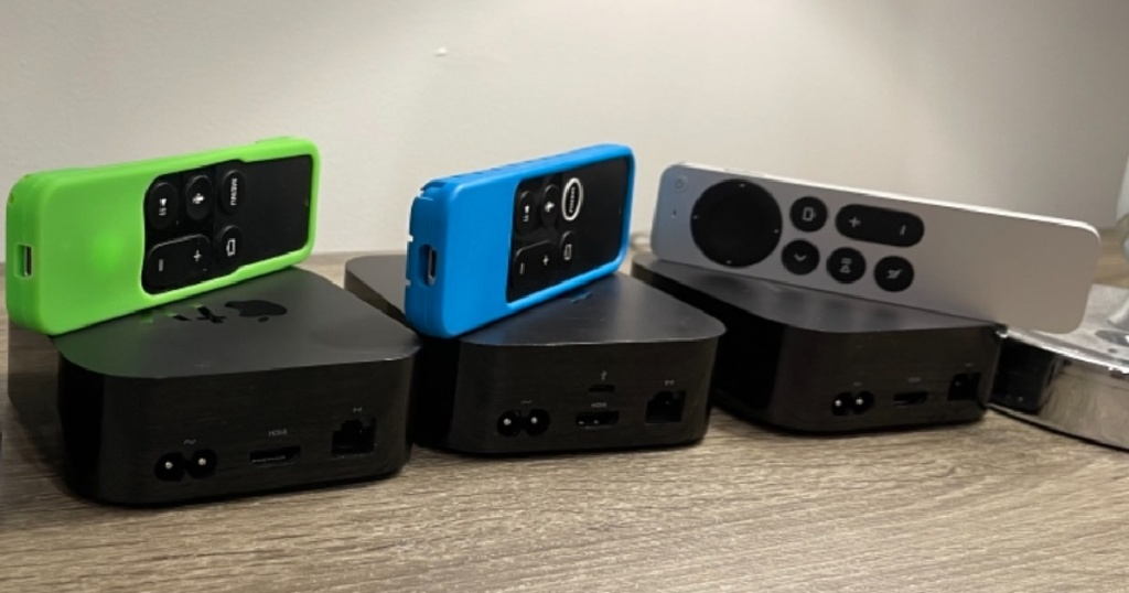 three streaming media players and remotes