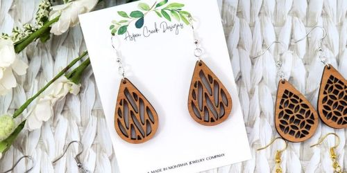 Handmade Wooden Teardrop Earrings Only $7.99 Shipped | 9 Style Choices