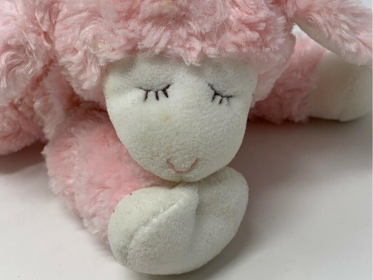 Baby GUND Winky Lamb Stuffed Animal Plush w: Rattle