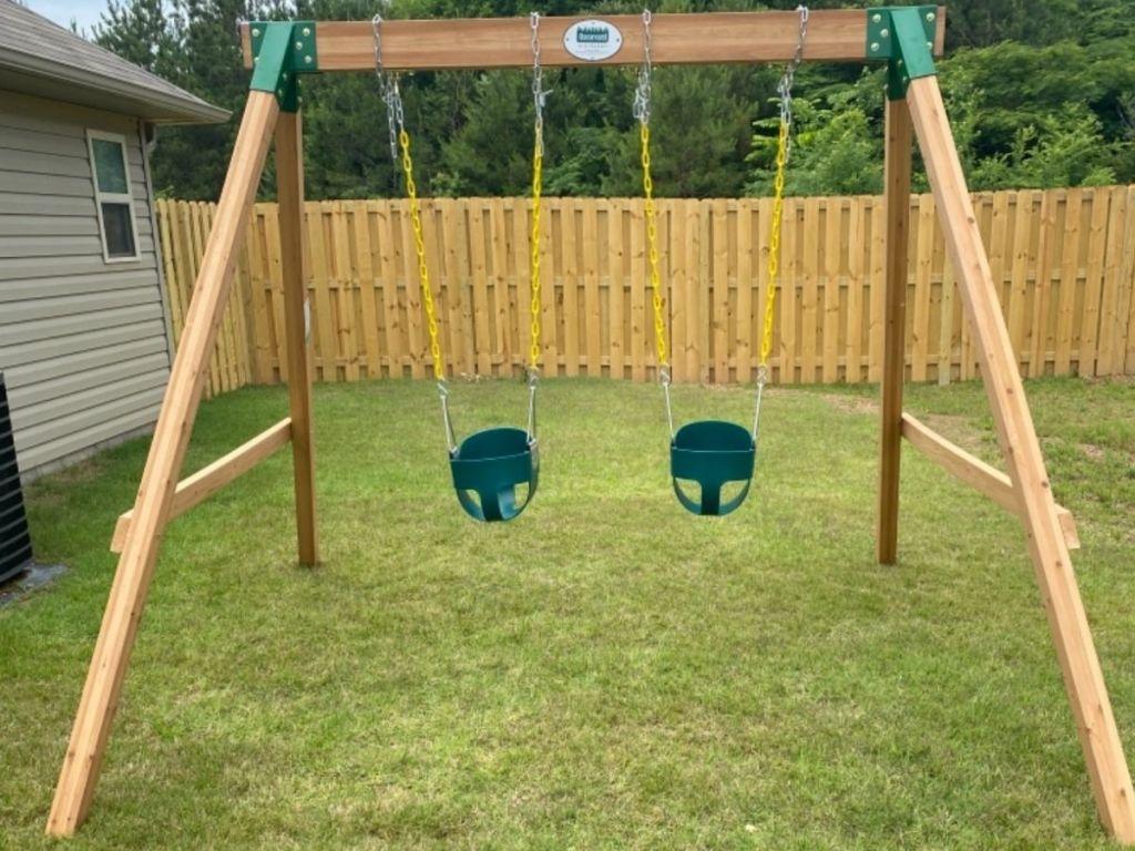 Backyard Discovery Swing set
