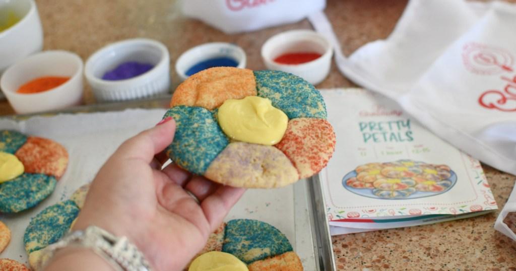 Baketivity flower petal cookie
