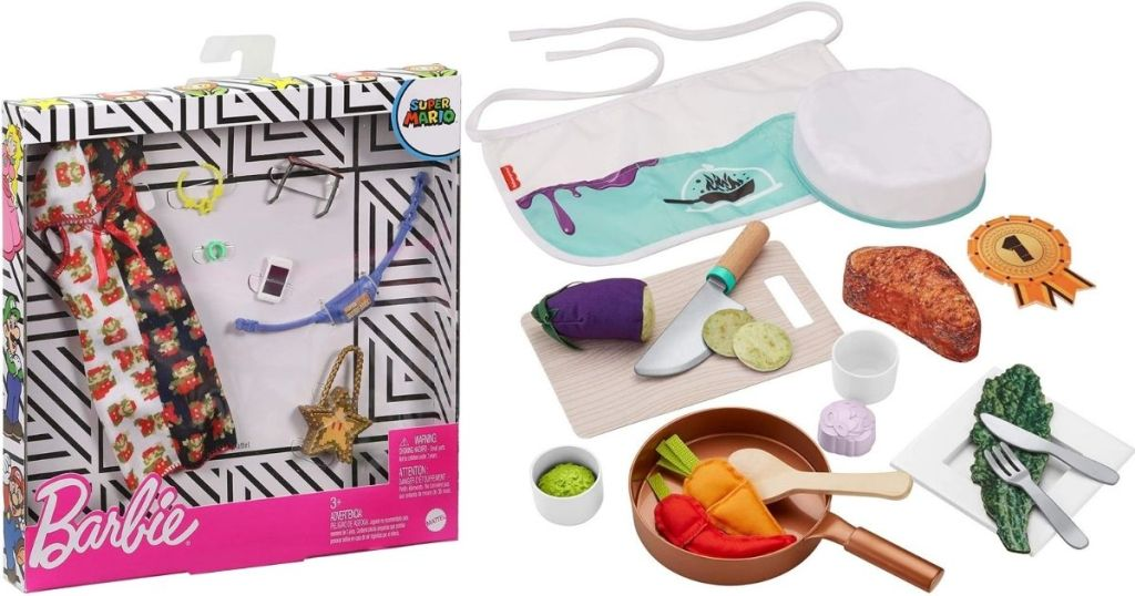 Barbie Accessories and Chef Set