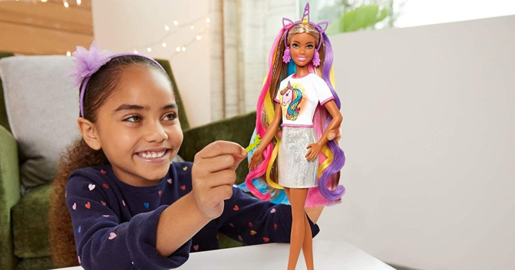 Barbie Fantasy Hair Doll with 12 Accessories