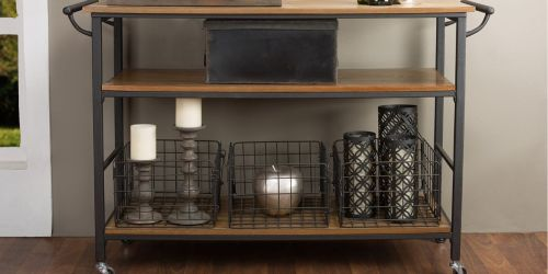 Industrial Style Kitchen Cart w/ 3 Wire Baskets Only $113 Shipped on Amazon (Regularly $351)