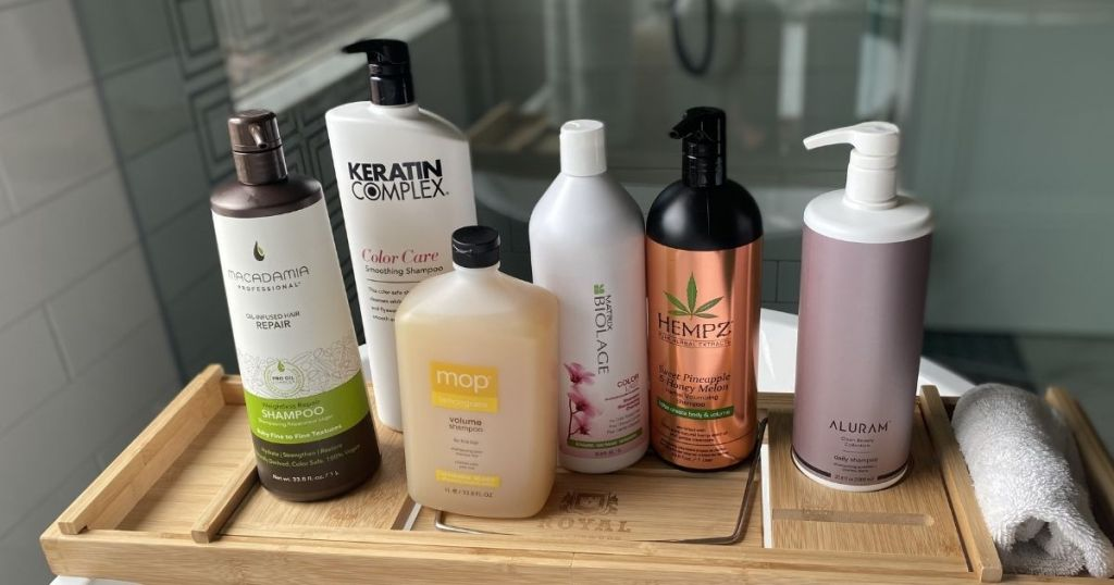 Beauty Brands Liters on a tray