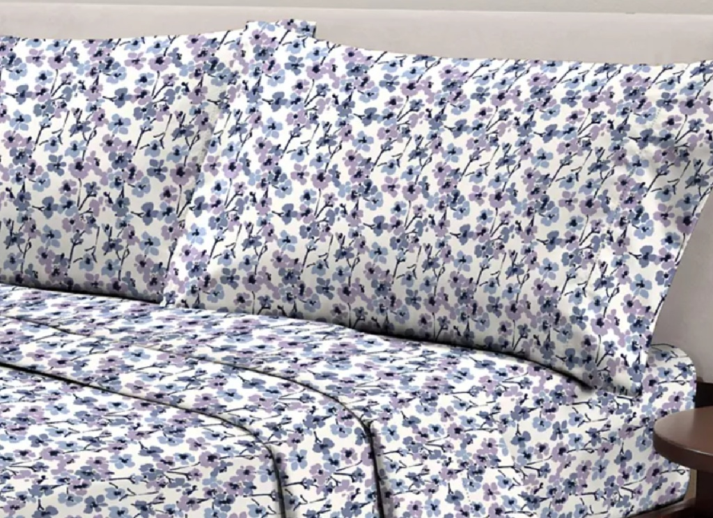 floral purple bedding