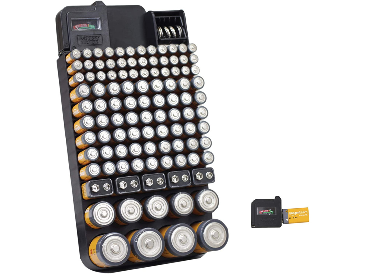 Bee Neat Battery Organizer Storage Case with Energy Tester