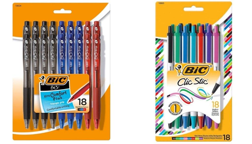 bic pens in packaging