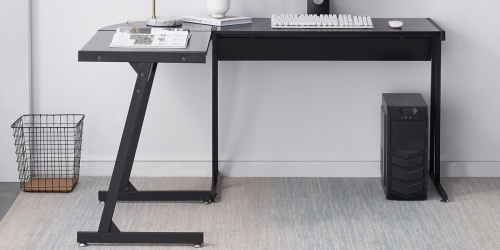 Modern L-Shaped Desk Just $76.99 Shipped on Wayfair (Regularly $283) + More Clearance Deals