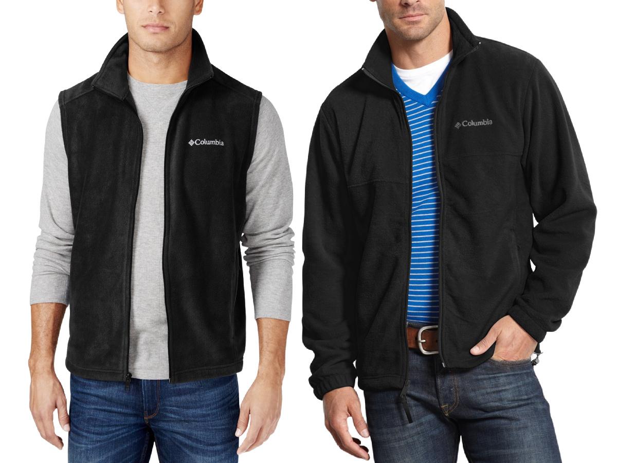 columbia vest and jacket