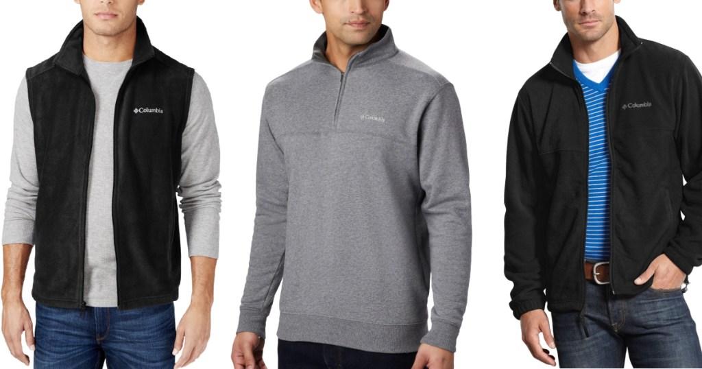 columbia men's jackets, vests, and fleeces
