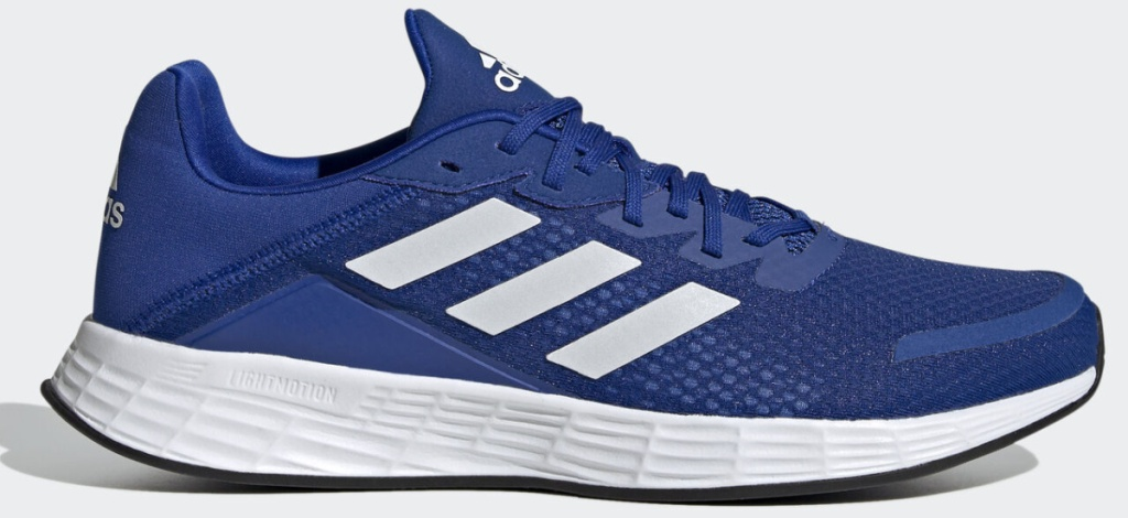 blue and white men's athletic sneakers