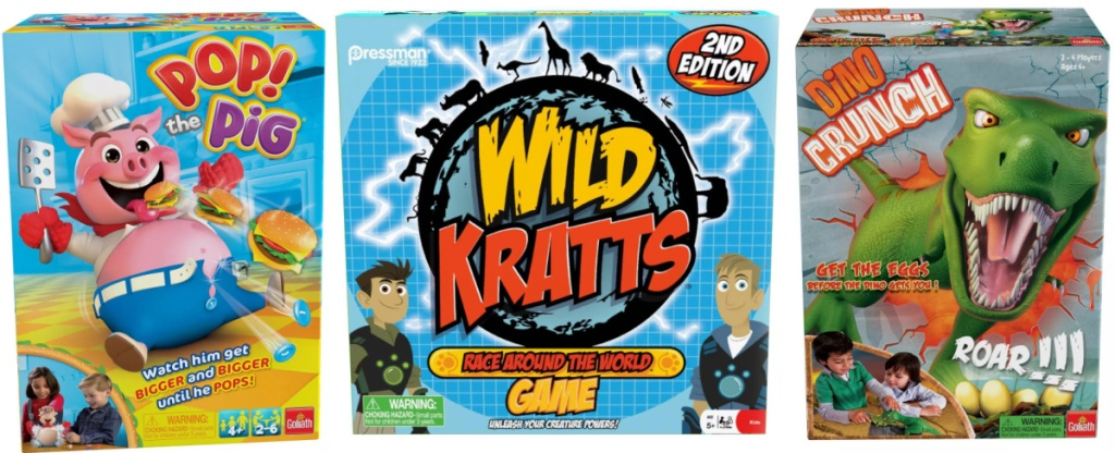 three board games for kids