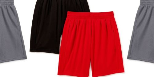 Boys Athletic Shorts 2-Pack Only $7 on Walmart.com (Regularly $12) | Regular & Husky Sizes