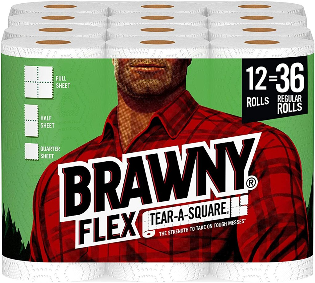 package of Brawny Paper Towel Rolls