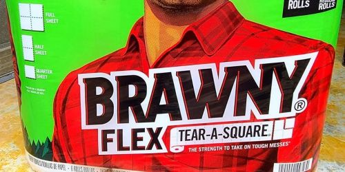 Brawny Paper Towels Triple Roll 12-Count Only $24 Shipped on Amazon   Equal to 36 Regular Rolls