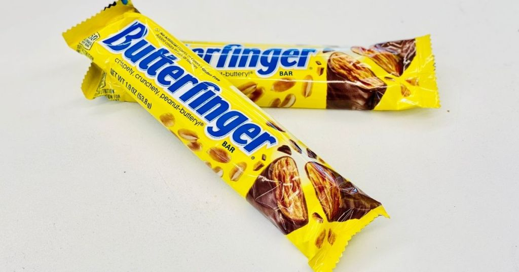 two Butterfinger Candy Bars