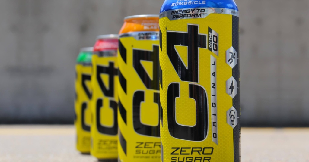 line of energy drinks in different flavors