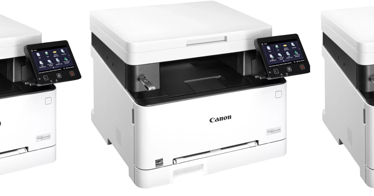 large white printers side by side