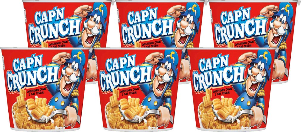 multiple capn crunch cereal individual cups
