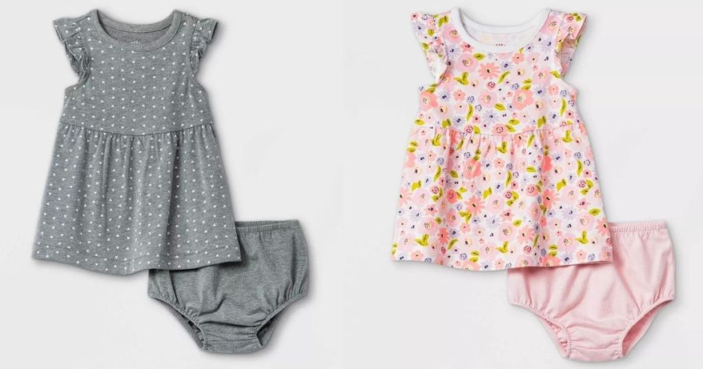 two baby dresses