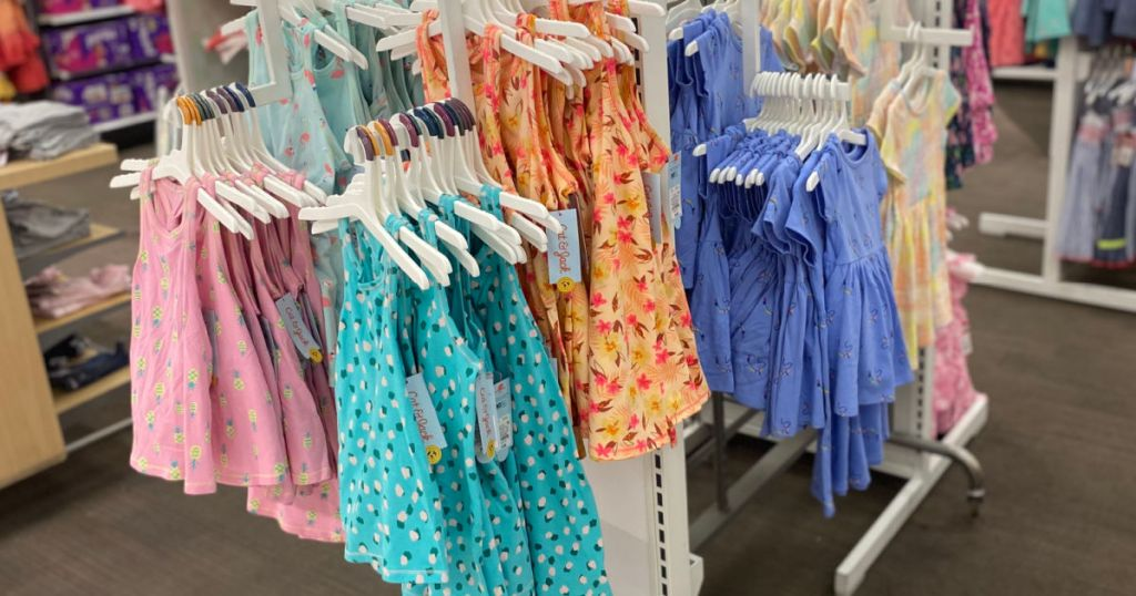 girl's dresses on rack