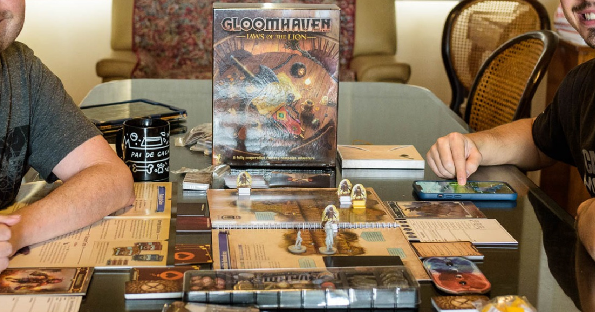 Cephalofair Games Gloomhaven board game on table top