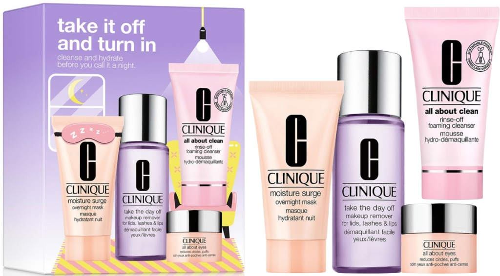 Clinique Take It All Off and Turn In: Skin Care Set