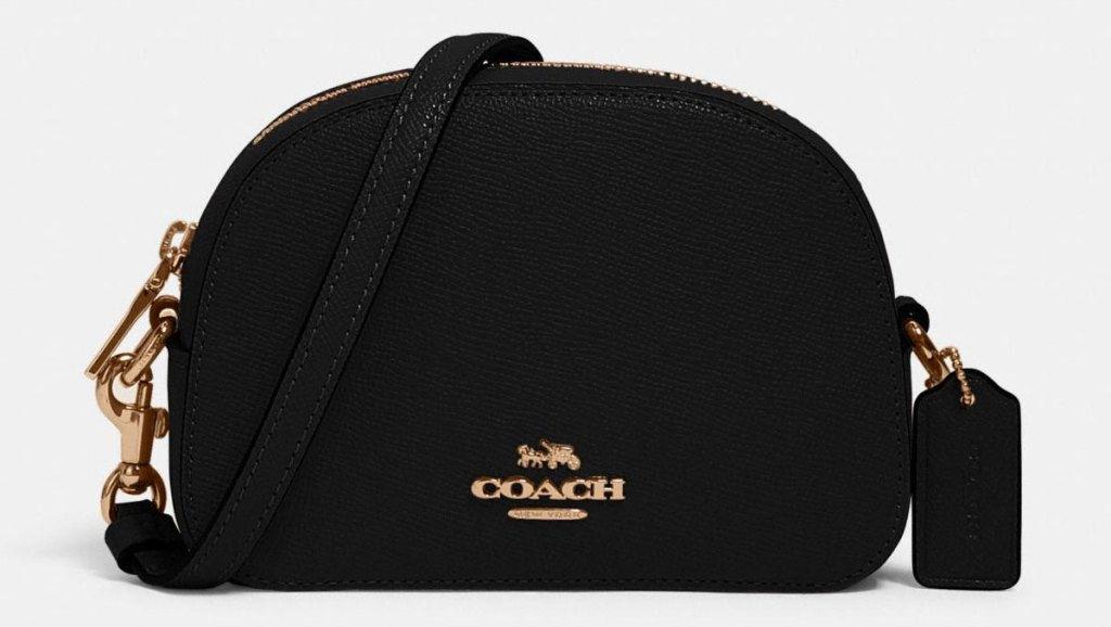 mini black coach crossbody bag