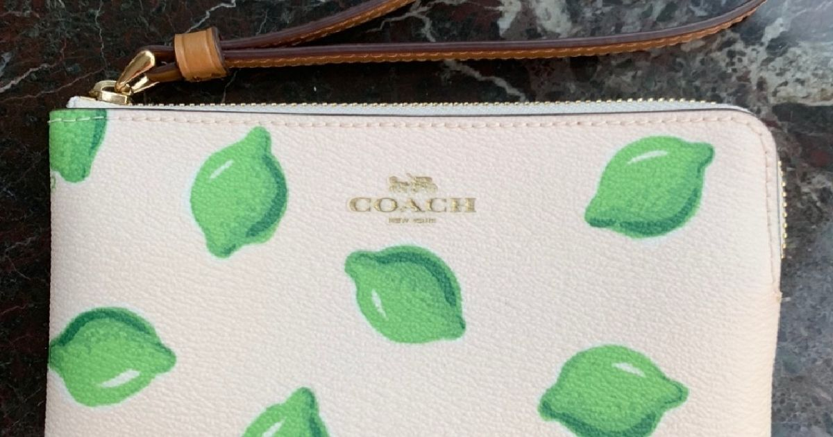 Coach Lime Wristlet