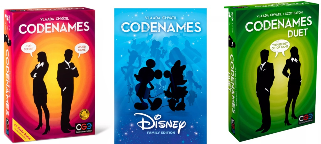 Three Codenames board games