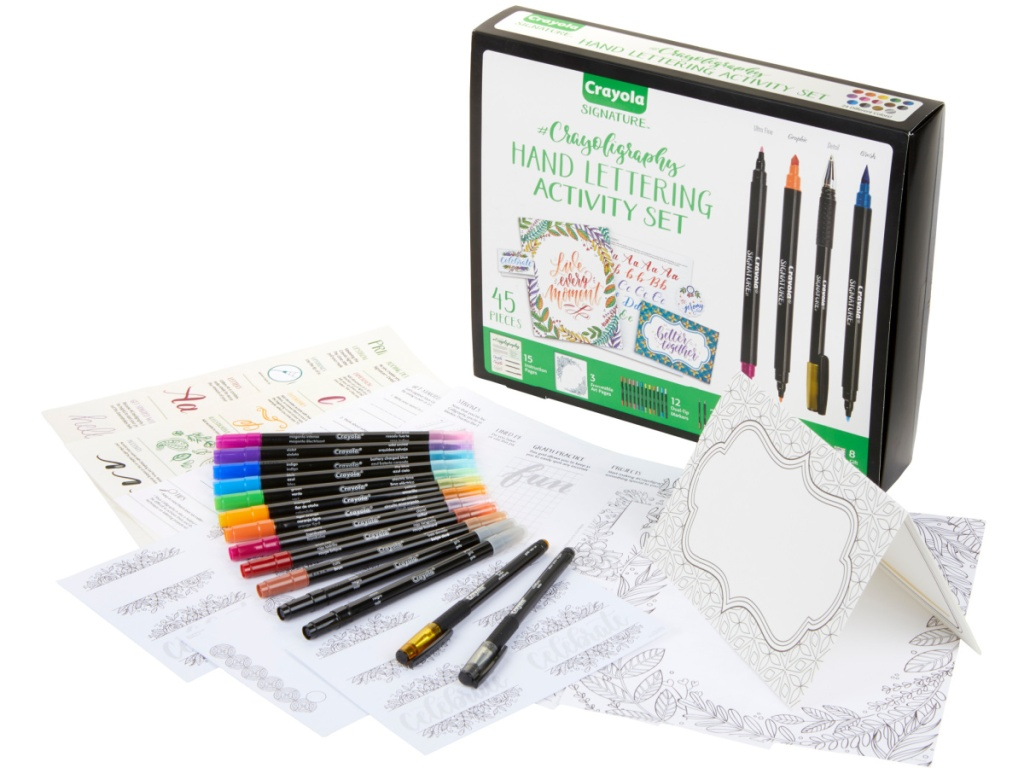crayola lettering set