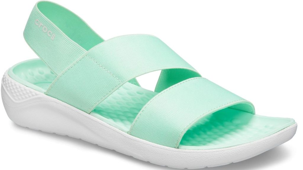 mint and white sandal